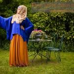 Chemise Lys Bleu Electrique & Jupe Idyl Rouille Misstoura