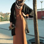 Robe Cléo Camel et Gilet Insaf Noir - Misstoura