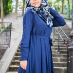 Abaya Anastasia Bleu Marine - Misstoura