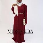 Robe Joumana Bordeaux - Misstoura