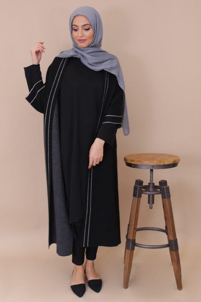 gilet long femme musulmane