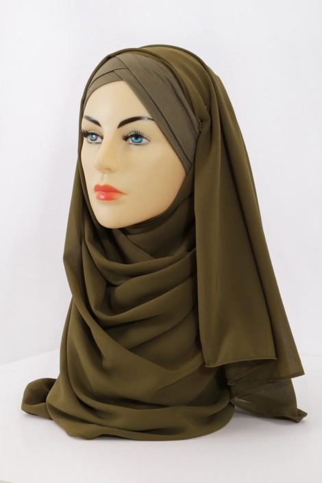 hijab vert foulard musulman abaya