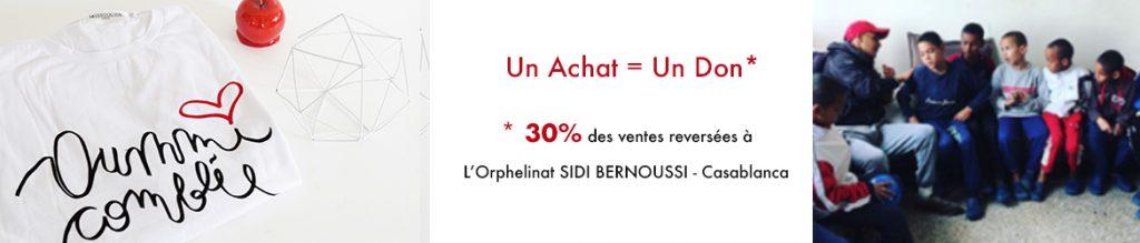 Un achat = Un don pour les orphelins de Sidi Bernoussi